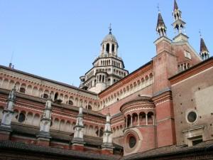 Uno degli angoli più spettacolari della Certosa di Pavia