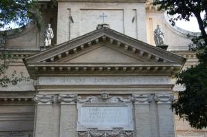 Chiesa del martirio di San Paolo (particolare della facciata)