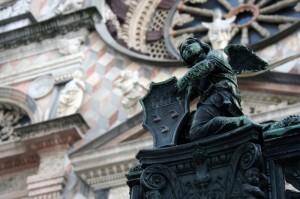 Particolare all'ingresso della Cappella Colleoni
