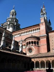 Vista della Certosa di Pavia