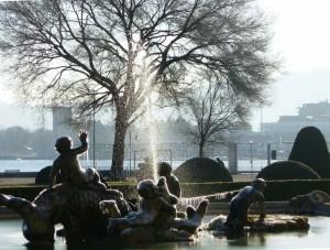 la meravigliosa fontana del parco di Villaolmo