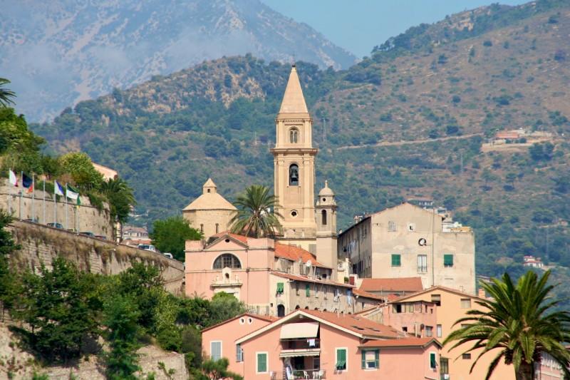 ''Città Alta. Campanile cattedrale e battistero'' - Ventimiglia