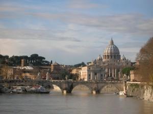 S. Pietro dal Tevere in piena