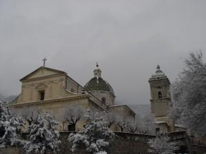 La Chiesa della S. M. Maddalena sotto la neve
