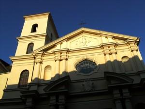 Un  raggio di luce sulla Basilica dell'Immacolata - Catanzaro
