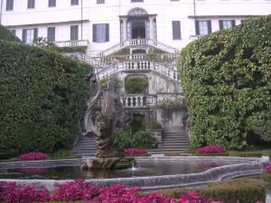 Villa Carlotta e la fontana