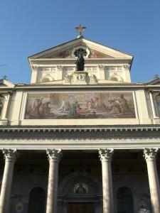 San Gioacchino ai Prati di Castello. Primo piano facciata esterna.
