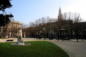 vista dai giardini pubblici