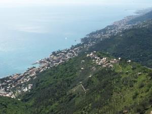 Genova dalle alture di San Bernardo frazione di Bogliasco