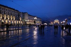 Torino,sera di pioggia