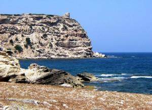 La punta di Scabe e Sai, con la sua omonima torre costiera.