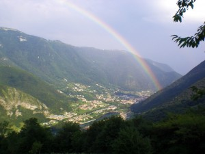 Arcobaleno in valle