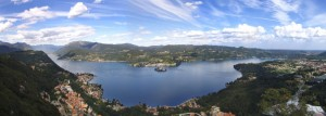 Panoramica lago d'Orta dalla Madonna del Sasso