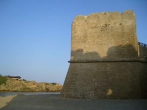 Uno dei bastioni del castello Aragonese