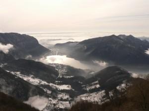 ticino meridionale e pianura padana tra la nebbia