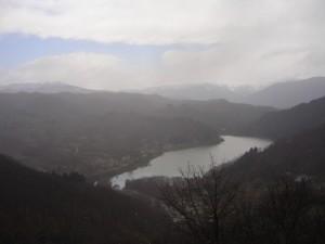 Neve sul lago di Gramolazzo
