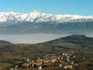 Panorana di San Panfilo d'Ocre (AQ).