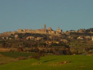 Panoramica di Volterra ad Agosto