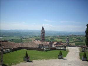 Vista di Govone dal Castello Reale