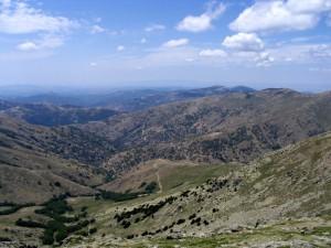 panorama dalla cima più alta della Sardegna