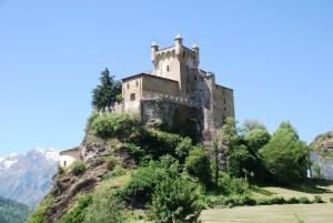 il castello di Saint Pierre visto da una nuova angolazione