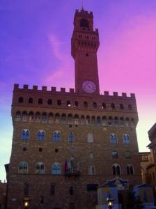 La magia del tramonto sul Palazzo Vecchio