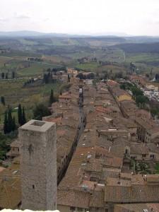Veduta dall'alto di San Gimignano