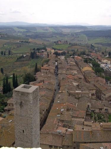 San Gimignano - Veduta dall'alto di San Gimignano