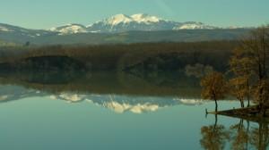 Monte Sirino dalla diga del Pertusillo
