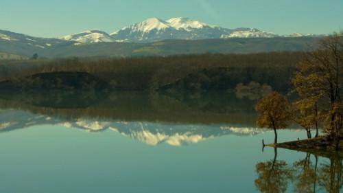 Potenza - Monte Sirino dalla diga del Pertusillo