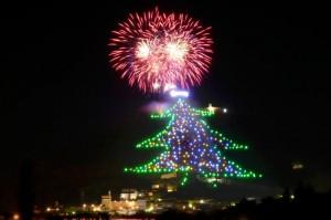 Albero di Natale più grande del mondo a Gubbio