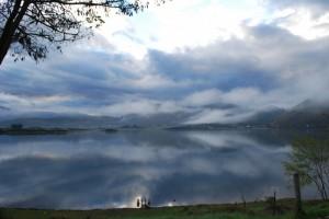 lago di canterno alba