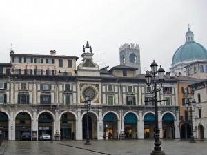 Brescia, piazza dell'orologio