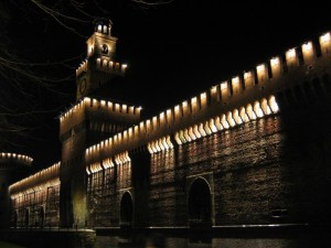 Il Castello Sforzesco by night
