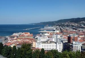 Trieste dal castello San Giusto