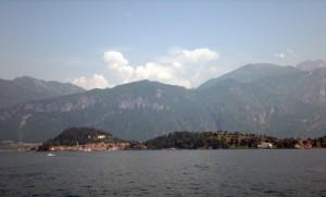 Bellagio, dove confluiscono i due rami del Lario