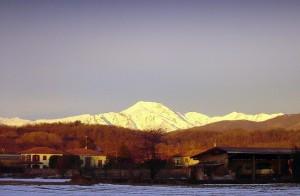 L'alba sul monterosa