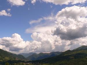cumuli sulla valle