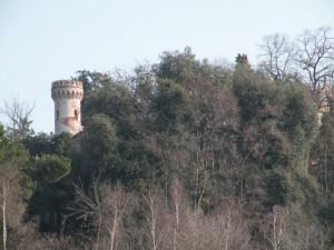 la torre del castello di Montecavallo