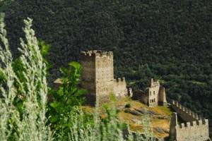 Il Castello di Cly, cinta ventosa