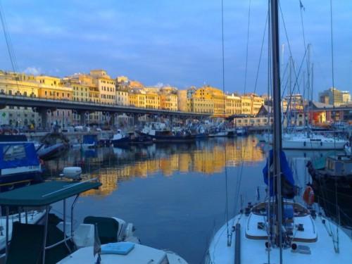 Genova - La sopraelevata al tramonto