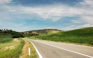 Pienza tra le colline senesi…