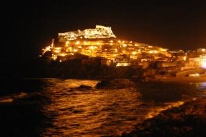 Castelsardo in notturna