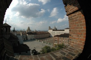 Piazza Castello vista da una torre di Palazzo Madama