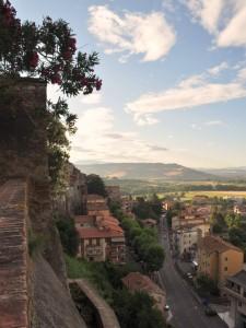 Panorama di Orte dalla Rocca