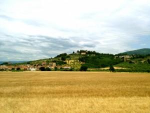 La collina con il Borgo Medievale della Rocca di Montemurlo