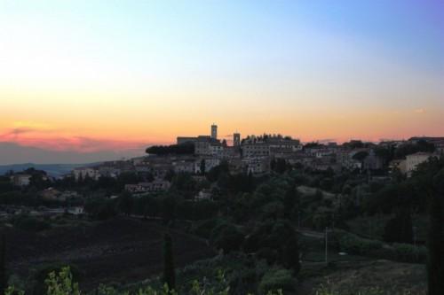 Montescudaio - Montescudaio al tramonto