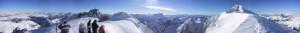 Arrivo al terzo tronco della funivia della Marmolada - panoramica 360°