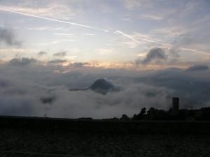 San Leo in mezzo alle nuvole