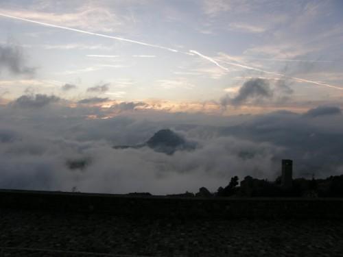 San Leo - San Leo in mezzo alle nuvole